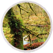 Mossy Bend Round Beach Towel