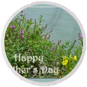 Mother's Day - Wildflowers By The Pond Round Beach Towel