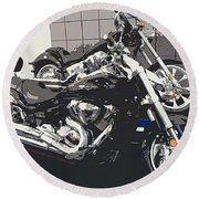 Motorcycle Ride - Five Round Beach Towel