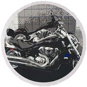 Motorcycle Ride - Two Round Beach Towel