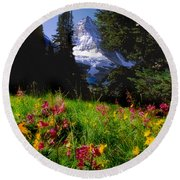 Mount Assiniboine Round Beach Towel