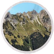 Mount Baker National Forest Round Beach Towel