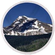 Mount Geduhn Livingston Range Glacier National Park Usa Round Beach Towel