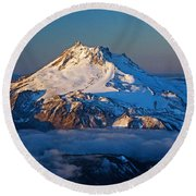 Mount Jefferson Round Beach Towel