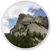 Mount Rushmore National Monument -3 Round Beach Towel