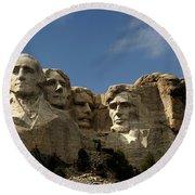 Mount Rushmore National Monument -5 Round Beach Towel