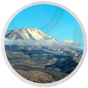 Mount St Helens And Castle Lake Round Beach Towel
