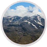 Mount St Helens Round Beach Towel