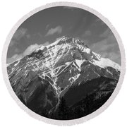 Mountain Cascade Round Beach Towel