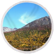 Mountain Colors Round Beach Towel