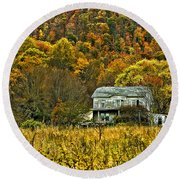 Mountain Home Painted Round Beach Towel