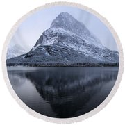 Mountain Mirror Round Beach Towel