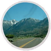 Mountains Ahead Round Beach Towel