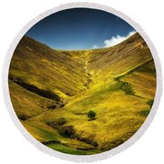 Mountains And Hills Round Beach Towel