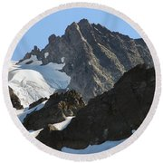 Mountain's Majesty Round Beach Towel