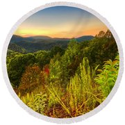 Mountainside Round Beach Towel