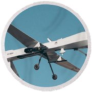 Mq-1 Predator Drone Round Beach Towel