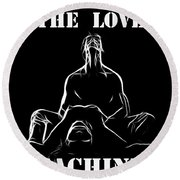 Mr Lover Lover Round Beach Towel