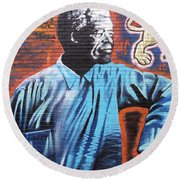 Mr. Nelson Mandela Round Beach Towel
