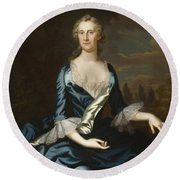 Mrs. Charles Carroll Of Annapolis Round Beach Towel
