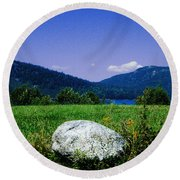 Mt Desert Island Maine Round Beach Towel