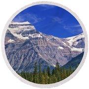 Mt. Robson, British Columbia Round Beach Towel