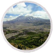 Mt St Helens 3 Round Beach Towel
