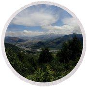 Mt St Helens Lookout Round Beach Towel