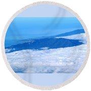 Mt Tamalpais From The Air Round Beach Towel
