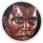 Muhammad Ali Formerly Cassius Clay Round Beach Towel