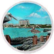Mullet Bay Round Beach Towel