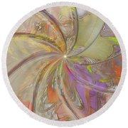 Multi Colored Pinwheel Round Beach Towel