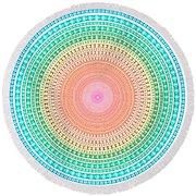 Multicolor Circle Round Beach Towel