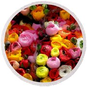 Multicolor Round Beach Towel