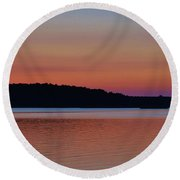 Multicolor Sunset Round Beach Towel