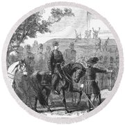 Munsons Hill, 1861 Round Beach Towel