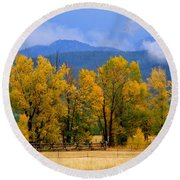 Murmur Of The Cottonwoods Round Beach Towel