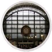 Musee D'orsay's Clock Round Beach Towel