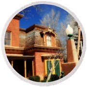 Museum In Silver City Nm Round Beach Towel