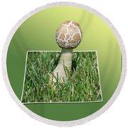 Mushroom 02 Round Beach Towel
