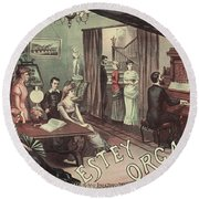 Musical Evening Ad, C1890 Round Beach Towel