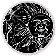 Musical Sunrise - Inverted Round Beach Towel