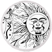 Musical Sunrise Round Beach Towel