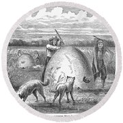 Muskrat Hunting, 1873 Round Beach Towel