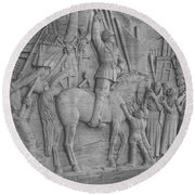 Mussolini, Haut-relief Round Beach Towel by Photo Researchers