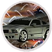 Mustang Saleen  Round Beach Towel
