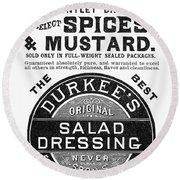 Mustard Ad, 1889 Round Beach Towel