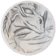 My Dragon Round Beach Towel