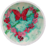 My Heart Has Been Pierced By Love Round Beach Towel