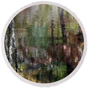 My Monet Round Beach Towel